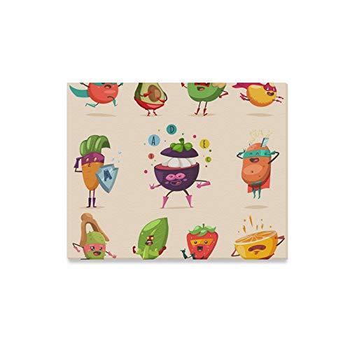 JOCHUAN Wandkunst Malerei Lustige Obst Gemüse Superheld Kostüm Drucke Auf Leinwand Das Bild Landschaft Bilder Öl Für Zuhause Moderne Dekoration Druck Dekor Für Wohnzimmer