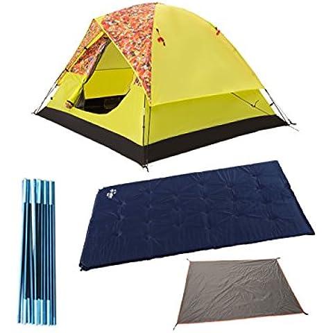 3-4 Tenda Persone campeggio esterno antivento e impermeabile Sunproof tenda da campeggio famiglia Outing (due colori facoltativi) ( colore : B+3