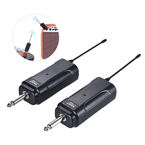 Price comparison product image DXY Portable Wireless Audio Transmitter & Receiver,  Suitable for Electric Guitar,  Bass,  Electric Violin and Other Electroacoustic Instruments.About 50m Effective Transmission Range.
