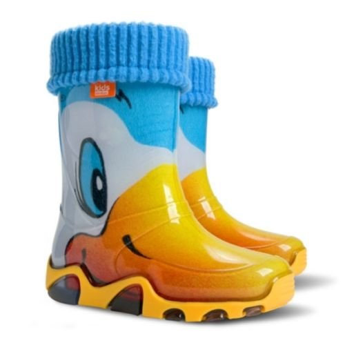 Kids RAIN Wellington Rainy Snow Boots Shoes Socks Children Baby Wellies Boy Girl