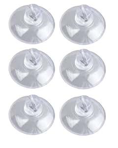 WENKO 4427100100 Mini-ventouses - set de 6, Plastique, 2.2 x 1.2 x 2.2 cm, Transparent