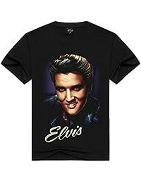 752e3528441df Weentop Top Casual de Verano para Hombre Personalidad Elvis Presley Man 3D  Impreso Manga Corta Camiseta