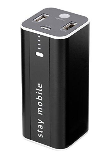 staymobile Power Bank 12000 mAh (neueste Technologie) mit 2 USB Ausgängen Externer Akku und Handy Ladegerät für iPhone, iPad, Samsung, Smartphones und Tablets akkupack