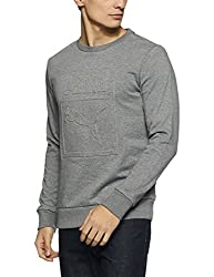 Puma Mens Round Neck Cotton Sweatshirt (4057828806099_57551803_Large_Medium Gray Heather)