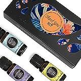 Juego de aceites esenciales de grado terapéutico 100% puro de Edens Garden, 3/10 ml de buena noche, lavanda (búlgara) y especias de sol