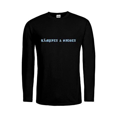 dress-puntos Kids Kinder Langarm T-Shirt Kämpfen & Siegen 20drpt15-ktls00086-11 Textil black / Motiv himmelblau Gr. (Kostüm Elf Kampf)