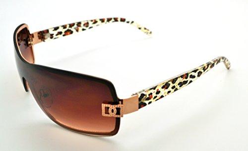 Vox tendance classique de haute qualité pour femme Hot Fashion Lunettes de soleil W/sans pochette en microfibre Yellow/Gold Frame - Brown Lens