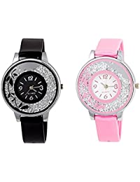 Krupa Enterprise Analogue Diamond Multi-color Dial Watch for Girls and Women