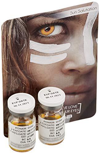 aricona Kontaktlinsen Farblinsen farbige Kontaktlinsen Halloween Jahreslinsen zum Vampir ()