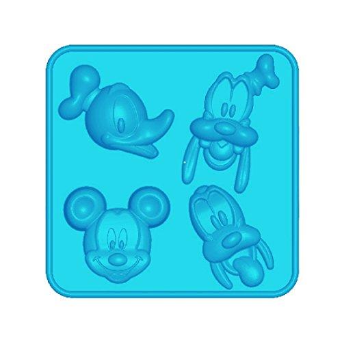 Disney Mickey Maus Goofy Donald, Silikonbackförmchen, antihaftbeschichtet, hohe Formstabilität und Flexibilität, spülmaschinengeeignet, blau, Ø ca. 6 cm, H: ca. 1,6 cm