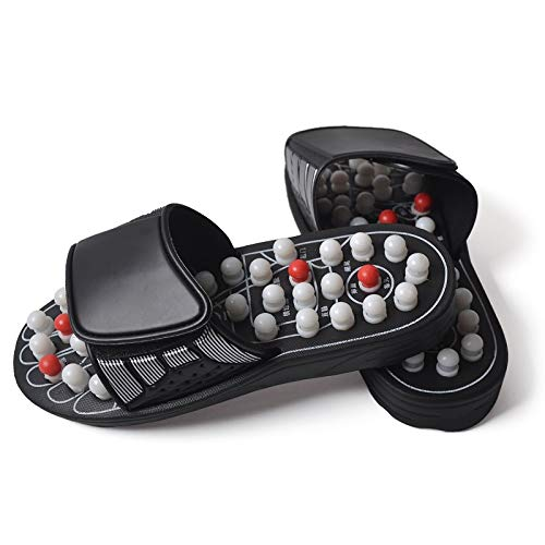 otating Massage Hausschuhe Akupunkturpunkt Männer und Frauen Gesundheit Hausschuhe Fußmassage Fußreflexzonenmassage Gesundheit Schuhe (Size : 42) ()