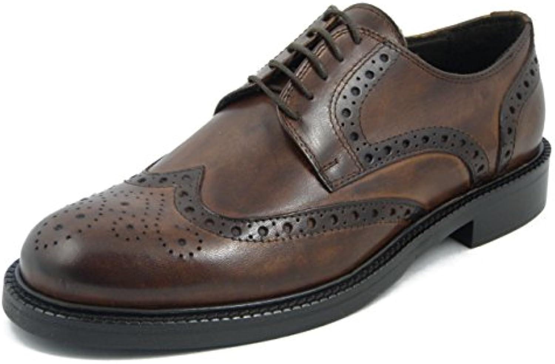 Dasthon, Scarpe Uomo Eleganti in Pelle Marronee Cuoio, Derby Stile Inglese, AM003 | Di Qualità Dei Prodotti  | Uomini/Donna Scarpa