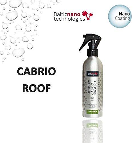 Hendlex Cabrio proteger hidrofóbico agua repelente Nano revestimiento superior (200 ml)