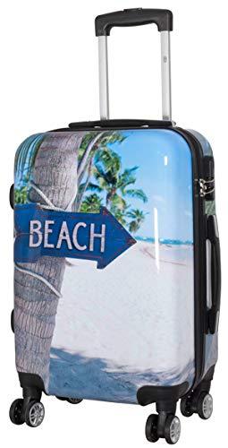 Koffer Beach Party Reise Trolley M Klein 55 cm 4 Rollen Bord Hand Gepäck Bowatex