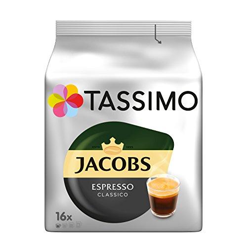 Tassimo Kapseln Jacobs Espresso Classico, 80 Kaffeekapseln, 5er Pack, 5 x 16 Getränke