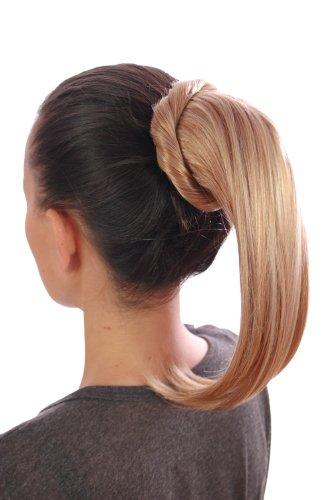 La Queue de Cheval à enrouler   Blonde cuivré   Faciles à poser avec une système de clips et cordon