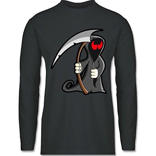 Halloween - Sensenmann - Longsleeve / langärmeliges T-Shirt für Herren Anthrazit