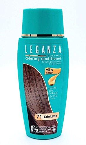 Leganza, teinture baume pour les cheveux sans ammoniaque, couleur café au lait N71, 7 huiles naturelles.