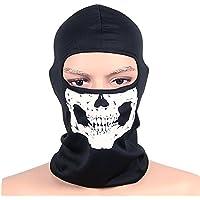 a437aa4d028a OUTDOT Moto Masque Visage Blanc Skeleton Crâne Visage Masque Ghost Bones  pour Adulte Halloween Dance Party