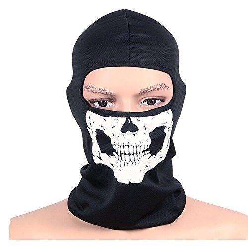 OUTDOT Motorrad Gesichtsmaske Weiß Skeleton Schädel Gesichtsmaske Geist -