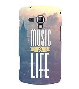 FUSON Music Is Life 3D Hard Polycarbonate Designer Back Case Cover for Samsung Galaxy S3 Mini I8190 :: Samsung I8190 Galaxy S Iii Mini :: Samsung I8190N Galaxy S Iii Mini