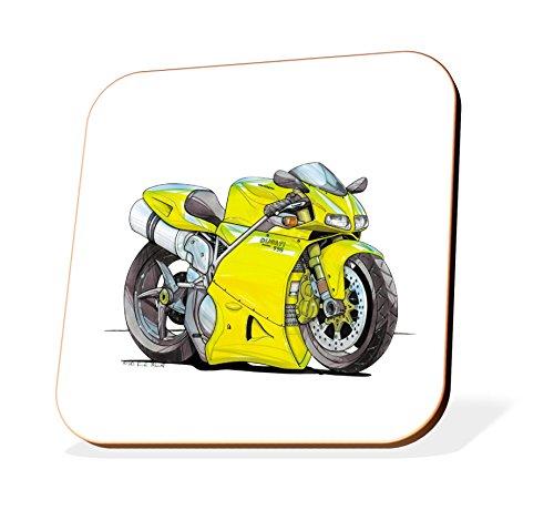 K1445-CST Koolart Gifts Cartoon Ducati 998 Motorcycle Wooden Coaster for Cups & Mugs (Motorbike Gifts & Gift Ideas) - Buy Online in Oman.