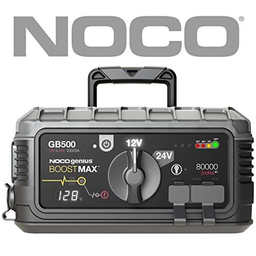 NOCO Boost MAX GB500 20000 Ampere 12V / 24V UltraSafe Lithium Starthilfegeräte Auto Starthilfe für Benzin und Dieselmotoren und Klasse 8+/CE Fahrzeugen