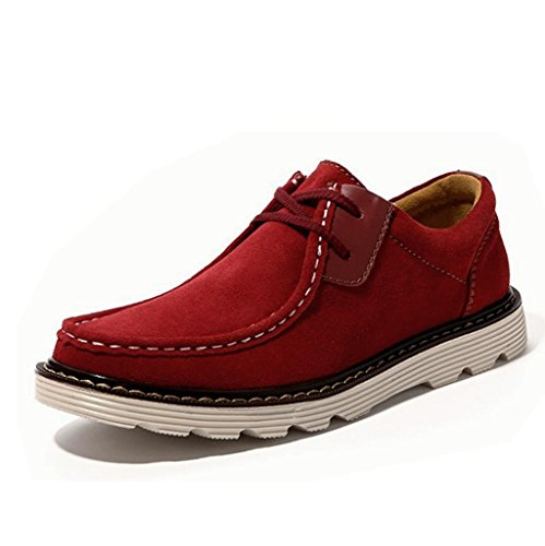 Heart&M casual in vera pelle scamosciata pelle scarpe Red