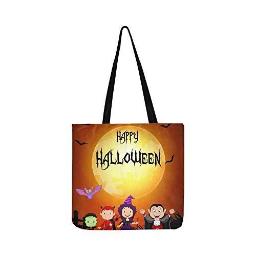 Halloween Happy Little Kids Kostüm Leinwand Tote Handtasche Umhängetasche Crossbody Taschen Geldbörsen Für Männer Und Frauen Einkaufstasche