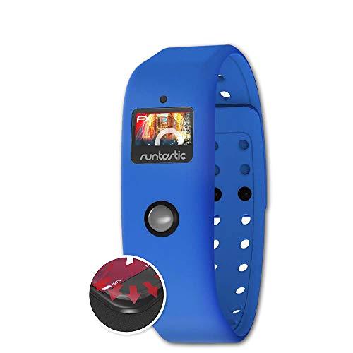atFoliX Schutzfolie passend für Runtastic Orbit Folie, entspiegelnde & Flexible FX Bildschirmschutzfolie (3X)