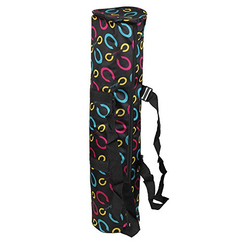 BQLZR Tapis de yoga portable sac étanche sac à dos sac à bandoulière noir Noir