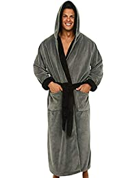 iYmitz ☯ Peignoirs de Bain Longues pour Hommes Robes de Chambre Pyjama 0c32114d247e