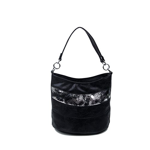 OBC Only-Beautiful-Couture, Borsa a spalla donna nero nero ca.: 29x40x19 cm (BxHxT) nero