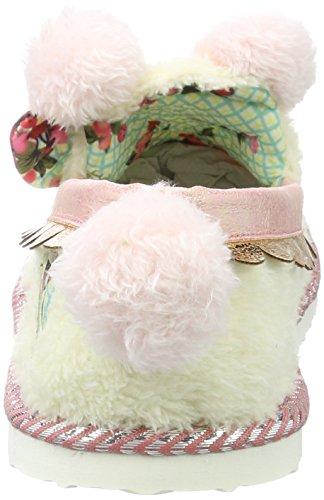 Irregular Choice Damen Sleepy Ted Niedrige Hausschuhe Off-White (Off White)