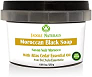 Jadole Naturals Moroccan Black Soap With Atlas Cedar Essential oil, Beldi Soap,250 ml