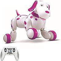 Giocattolo SainSmart Jr. telecomando senza fili elettronico intelligente cane bambini Pet Robot di Dancing Dog elettrico (Red) - Cane Carino Travestimenti