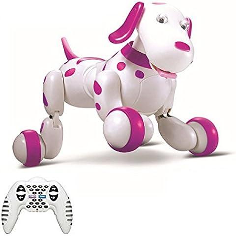 Perro Elegante SainSmart Jr. Eléctrico RC, Inalámbrico Interactivo Del Perrito, Juguete De Los Niños Que Bailan Mascota Robot, Rosado