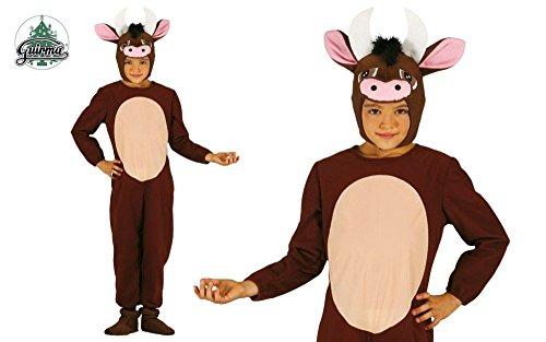 Guirca Kuh Stier Kostüm für Kinder Gr. 98-134, Größe:110/116