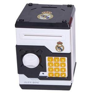 Caja Fuerte Real Madrid con Dispositivo Traga Billetes e Himno de Acierta7