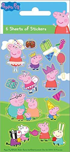 Peppa Pig 01.70.15.035 - Juego de Pegatinas (6 Unidades)