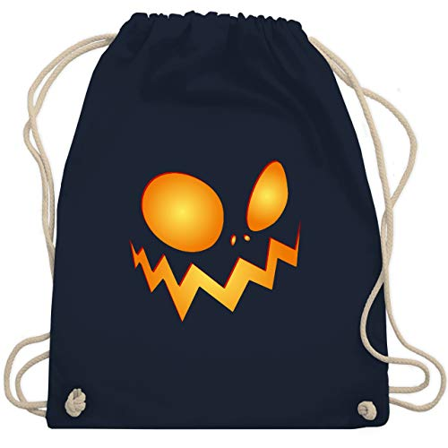 (Halloween - Kürbisgesicht groß Pumpkin - Unisize - Navy Blau - WM110 - Turnbeutel & Gym Bag)