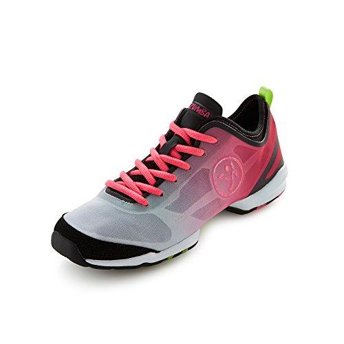 Zumba Footwear Zumba Flex II, Damen Hallenschuhe, Pink (Pinkadelic/Black), 40 EU (6 Damen UK)