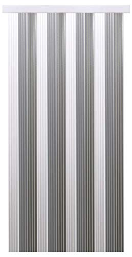 Tenda a fili per porta, con effetto lurex, plastica, weiß - hellgrau - grau, 90 x 200 cm