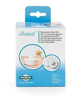 PetSafe - Filtre en Mousse de Rechange pour Fontaine à eau pour animaux Drinkwell 360 en Acier Inoxydable et Fontaine en Céramique Drinkwell (Pack de 2)