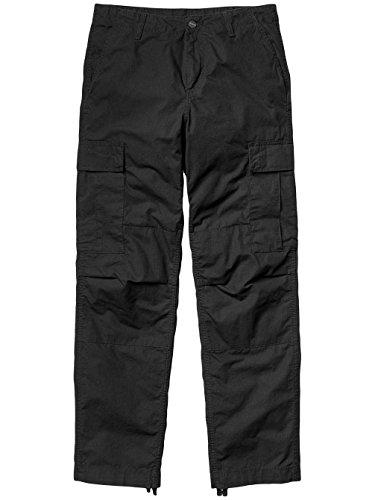 Carhartt Herren Jeans Regular Cargo Pant Black Rinsed