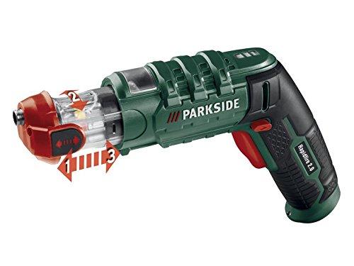 PARKSIDE Mini-Akkuschrauber 3,6 V mit 14 Bits Rapidfire 2.0