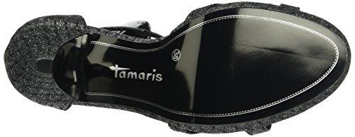 Tamaris 28303, Sandali con Zeppa Donna Argento (Pewter Glam St 916)