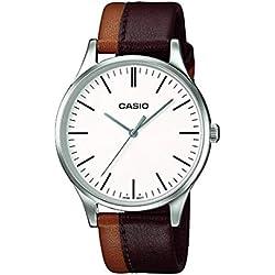 Casio Reloj Analógico para Hombre de Cuarzo con Correa en Cuero MTP-E133L-5EEF