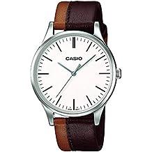 177e461254e0 Casio Reloj Analógico para Hombre de Cuarzo con Correa en Cuero  MTP-E133L-5EEF