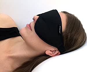 Stellar Deluxe Sleep Mask by Sleepstar - Luxurious Black Suede Eye Mask - Mask for Sleeping - Perfect for Travel